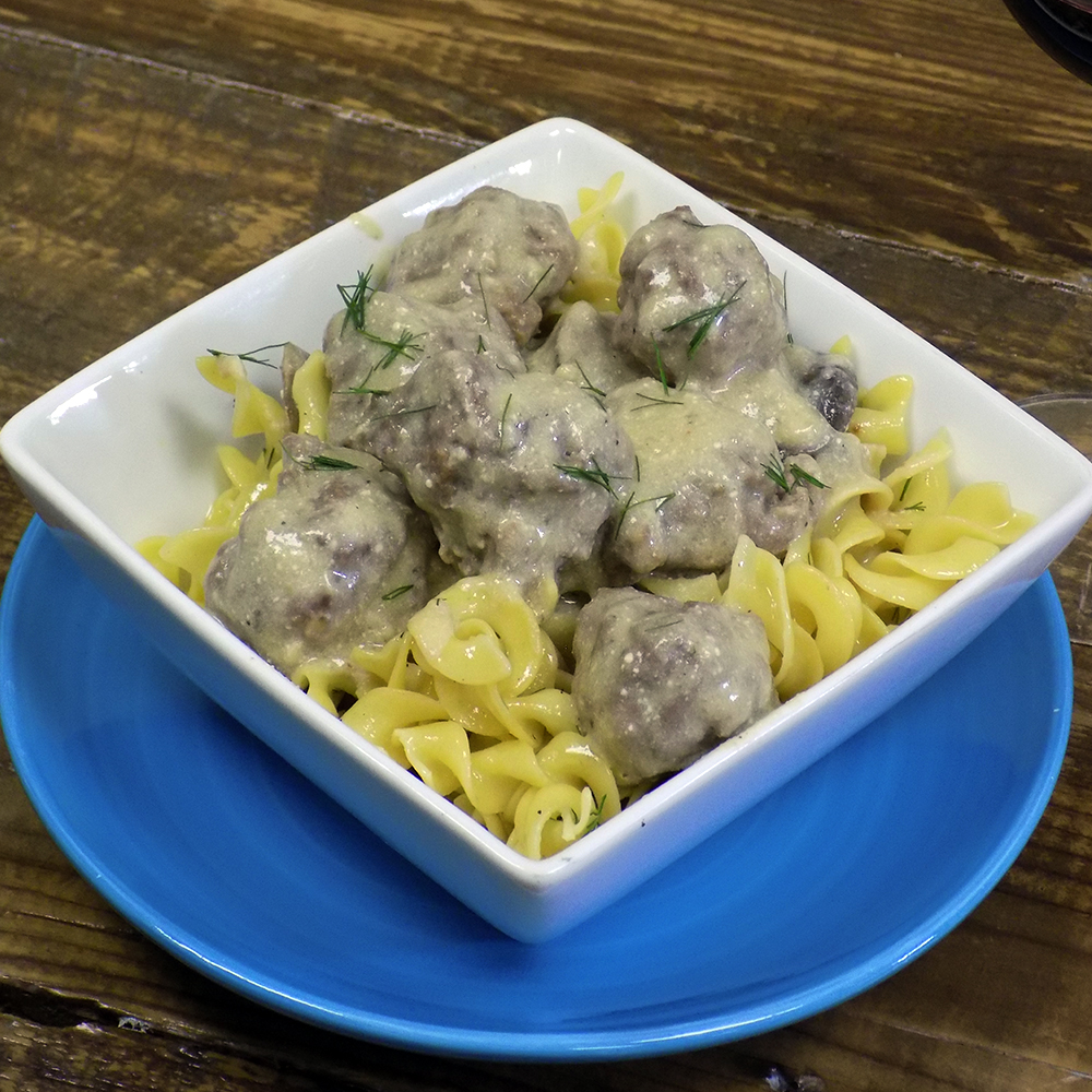 Magnificent Meatball Stroganoff